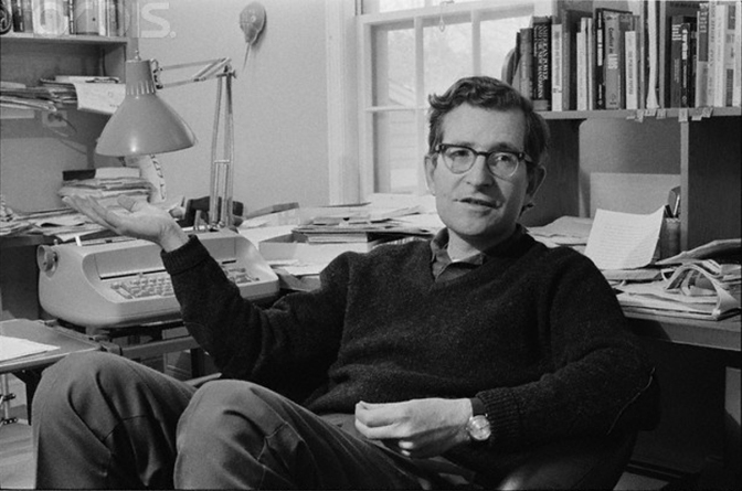 Noam Chomsky at Home